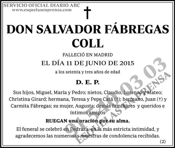 Salvador Fábregas Coll